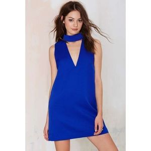 Cameo Collective Cut Out Blue V Dress S